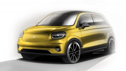 全新纯电小型车看起来像奔驰smart!零跑T03设计手稿曝光